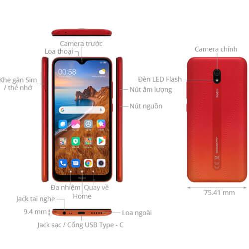 Thiết kế tổng quan Xiaomi Redmi 8A