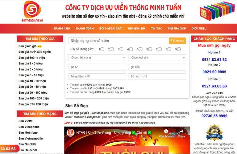 Nên mua sim Viettel tại cửa hàng Sim Tiền Giang
