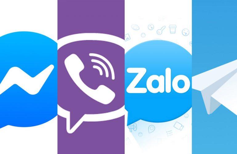 Phần mềm chat Zalo, Skype, Viber