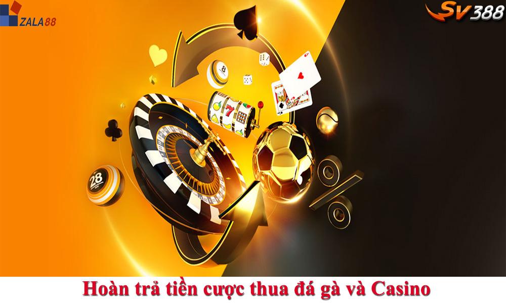 Hoàn trả cược Casino và Đá gà